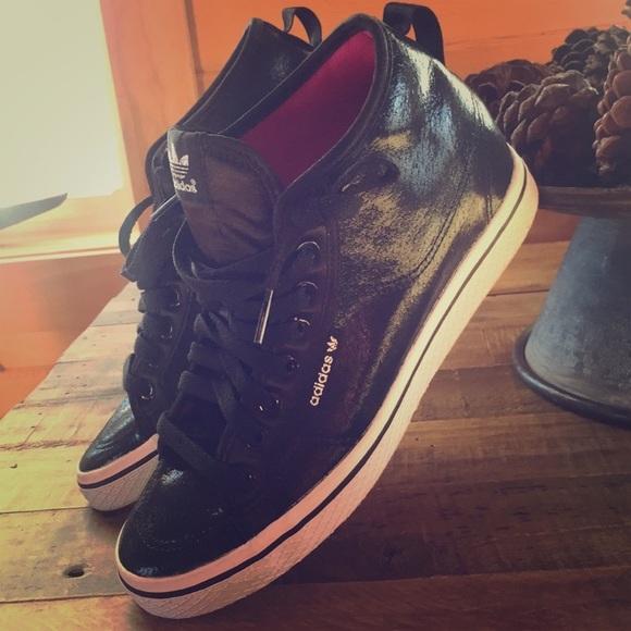 adidas Shoes   Black Wedge Sneakers